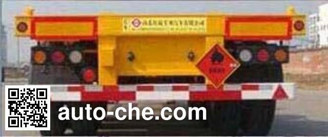 Honghe Beidou SHB9401TWY dangerous goods tank container skeletal trailer