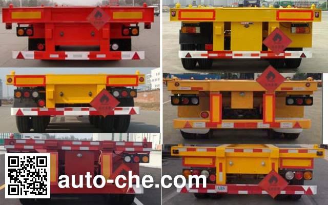 Liangsheng SHS9400TWYE dangerous goods tank container skeletal trailer