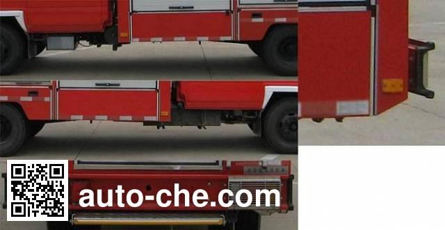 捷达消防牌SJD5050TXFJY120W抢险救援消防车