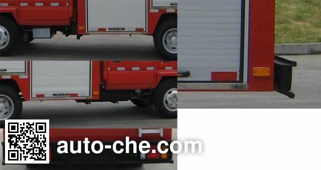 捷达消防牌SJD5050TXFJY73W抢险救援消防车