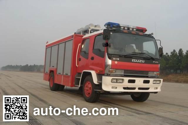 捷达消防牌SJD5111TXFJY100W抢险救援消防车