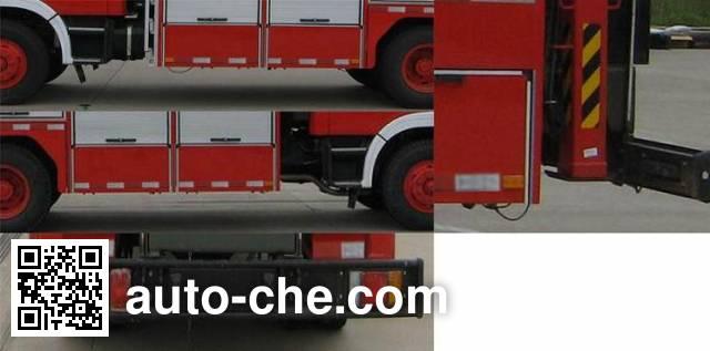 捷达消防牌SJD5120TXFJY100H抢险救援消防车