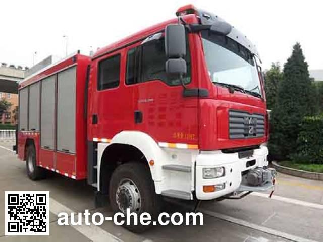 捷达消防牌SJD5140TXFJY100M抢险救援消防车