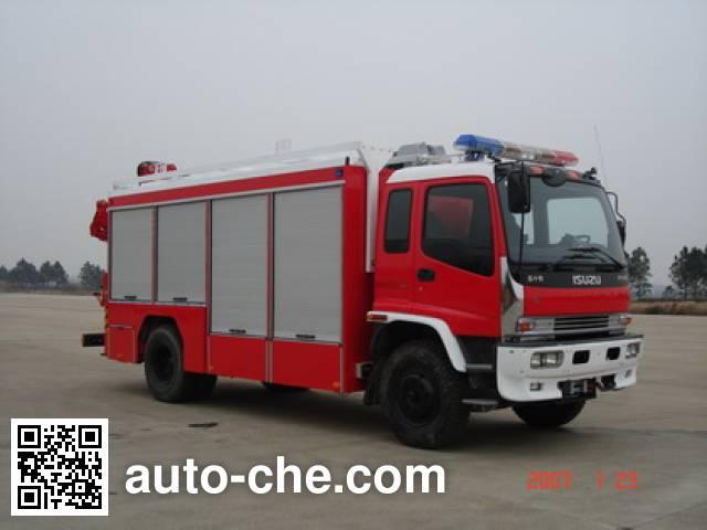 捷达消防牌SJD5140TXFJY75W抢险救援消防车