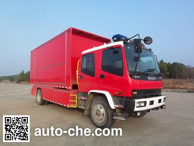 捷达消防牌SJD5140TXFZX60W1/3自装卸式消防车