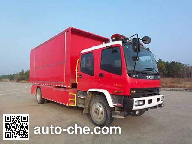 Jieda Fire Protection SJD5140TXFZX60W1/3 hydraulic hooklift hoist fire truck