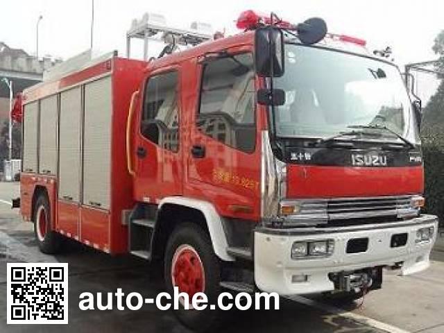 捷达消防牌SJD5142TXFJY75/W抢险救援消防车