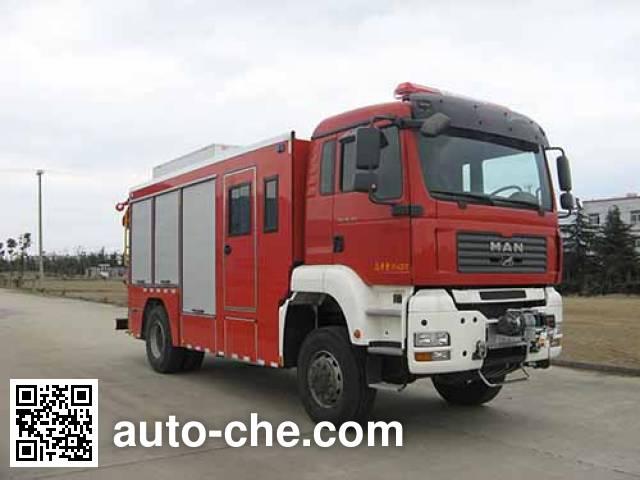 捷达消防牌SJD5160TXFJY100M抢险救援消防车