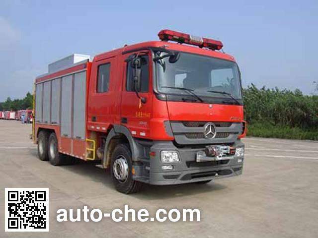捷达消防牌SJD5200TXFJY120B抢险救援消防车