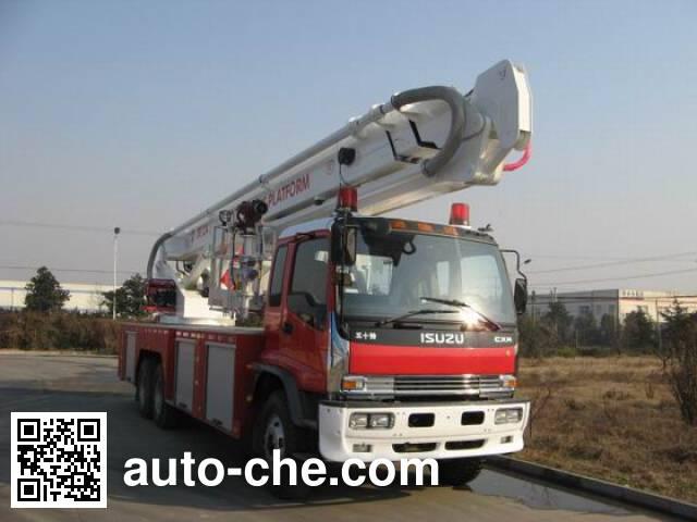 Jieda Fire Protection SJD5250JXFDG32 aerial platform fire truck