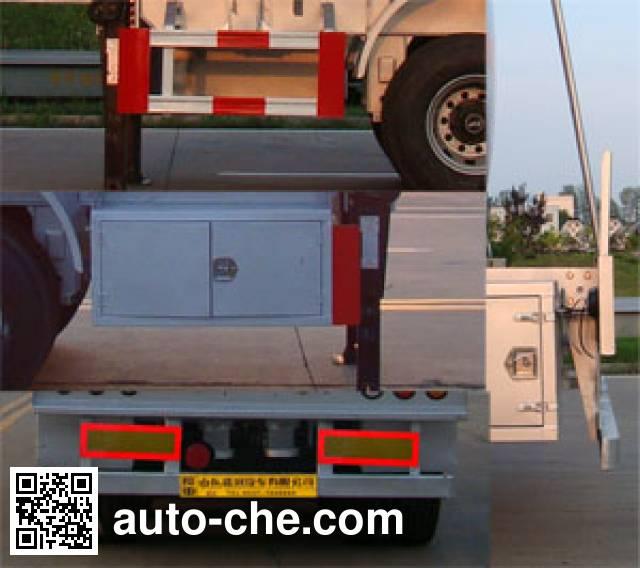 Shengrun SKW9401GFWT corrosive materials transport tank trailer