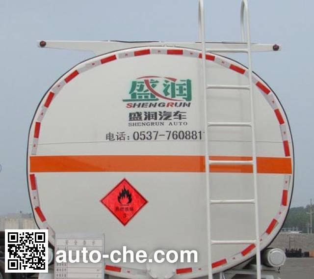 Shengrun SKW9401GRY flammable liquid aluminum tank trailer