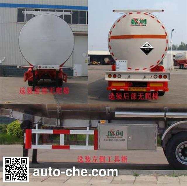 Shengrun SKW9402GFWT corrosive materials transport tank trailer