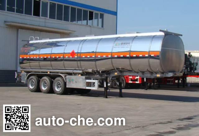 Shengrun SKW9403GRYL flammable liquid aluminum tank trailer