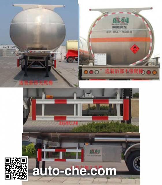 Shengrun SKW9403GYYA aluminium oil tank trailer