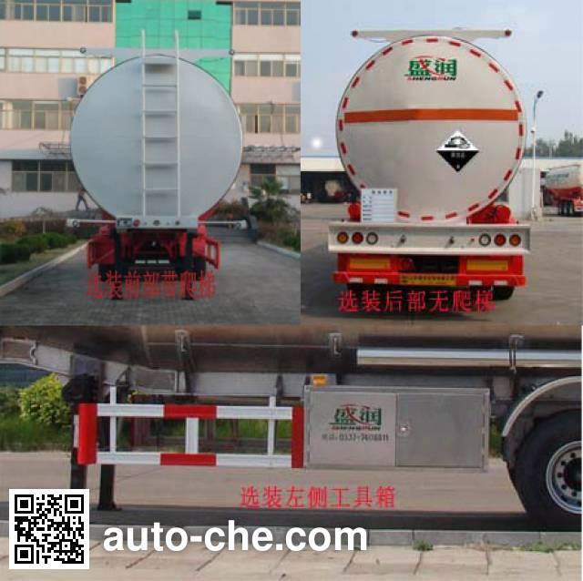 Shengrun SKW9404GFWT corrosive materials transport tank trailer