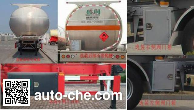 Shengrun SKW9405GLY liquid asphalt transport tank trailer