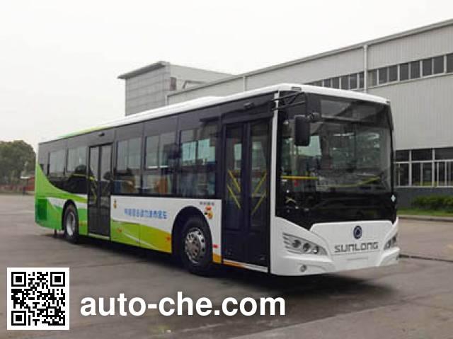 申龙牌SLK6129ULN5HEVL混合动力城市客车