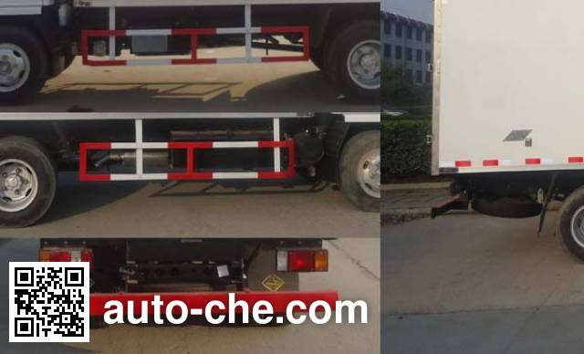 Yinguang SLP5041XBWS insulated box van truck