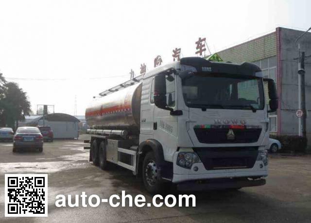 醒狮牌SLS5251GRYZ5易燃液体罐式运输车