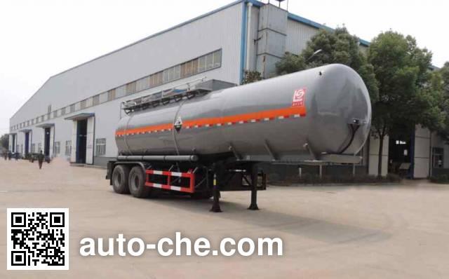 醒狮牌SLS9340GFW腐蚀性物品罐式运输半挂车