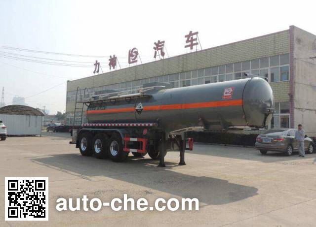 醒狮牌SLS9405GFWB腐蚀性物品罐式运输半挂车