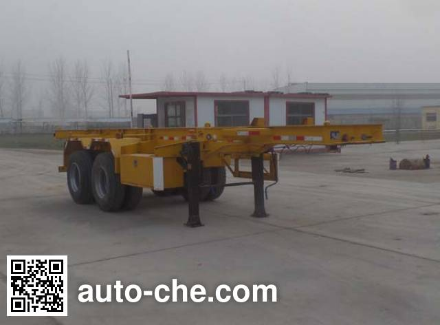Liangyun SLY9350TWY dangerous goods tank container skeletal trailer