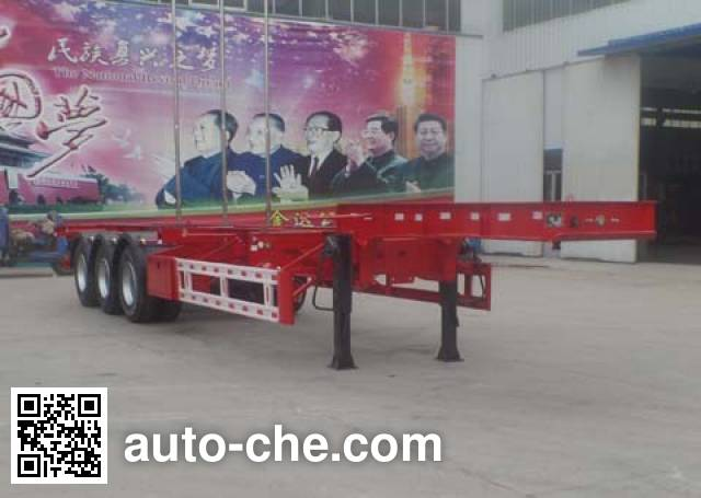 Liangyun SLY9380TWYE dangerous goods tank container skeletal trailer