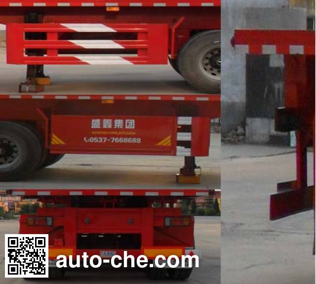 Kaishicheng SSX9401ZZXP flatbed dump trailer