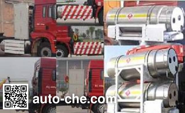 Shacman SX4258GV384TLW dangerous goods transport tractor unit