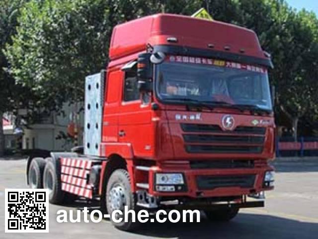 Shacman SX4258NV384TW dangerous goods transport tractor unit