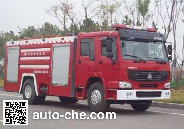 金猴牌SX5190GXFPM75泡沫消防车