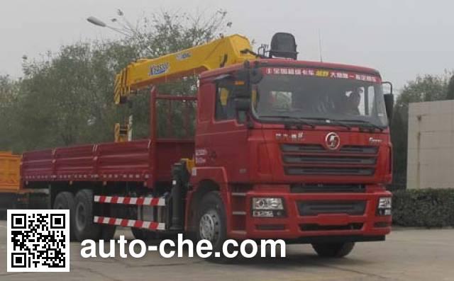 Shacman SX5256JSQDN584 truck mounted loader crane