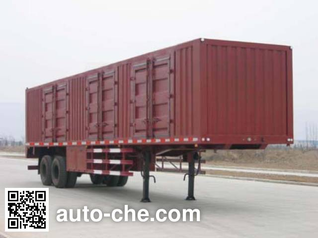 Shacman SX9200XXY box body van trailer