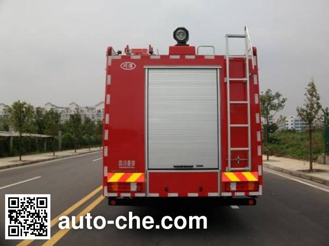 川消牌SXF5330GXFPM160B泡沫消防车