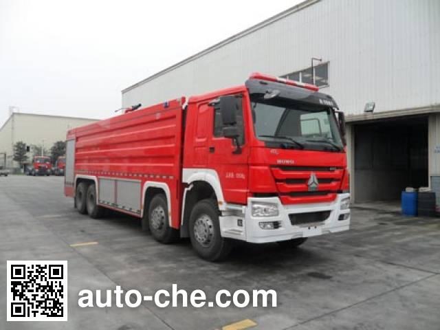 川消牌SXF5430GXFPM250泡沫消防车