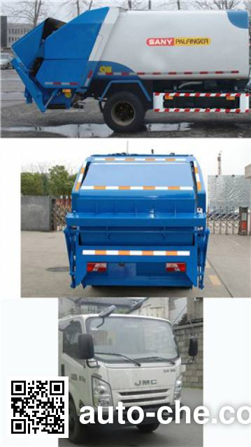 Sany SYP5080ZYSJLE5 garbage compactor truck