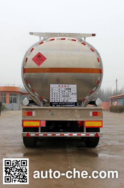 Daiyang TAG9400GRY flammable liquid aluminum tank trailer