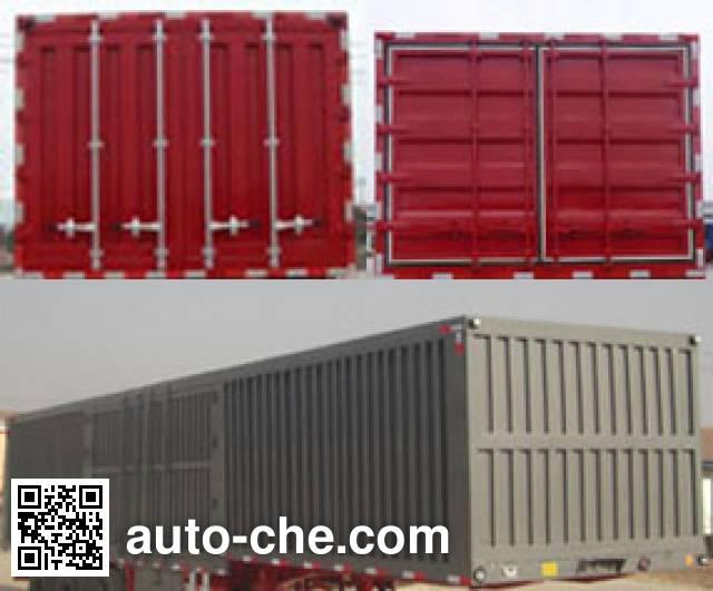 Xinhuachi THD9400XXY box body van trailer