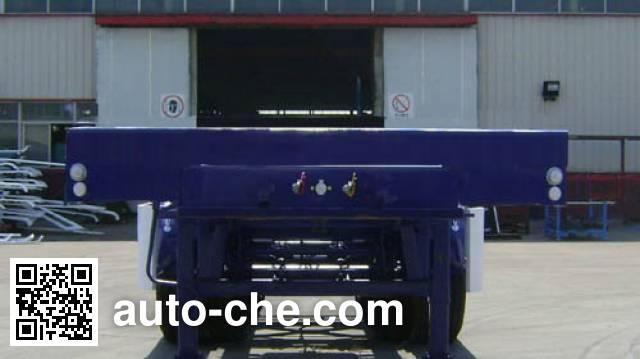 通华牌THT9351ZZXP平板自卸半挂车