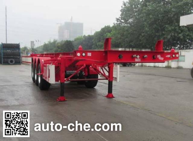 CIMC Tonghua THT9400TWY dangerous goods tank container skeletal trailer