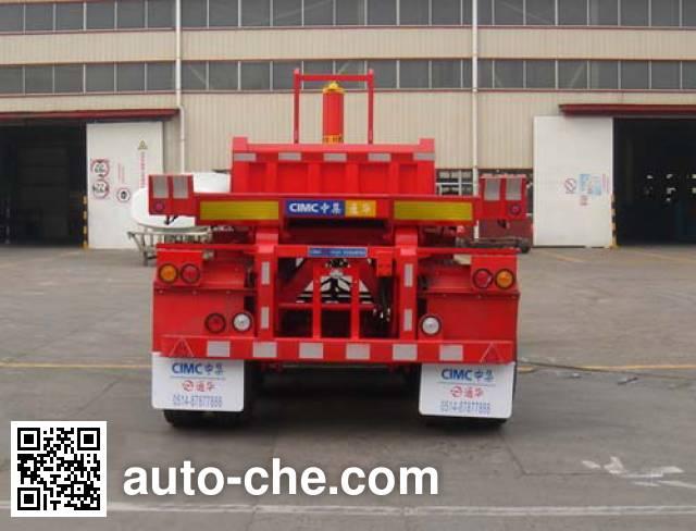 通华牌THT9400ZZXP平板自卸半挂车