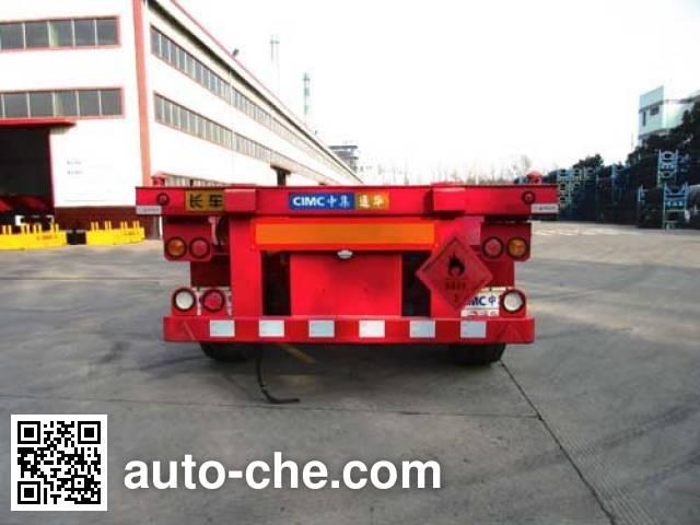 CIMC Tonghua THT9402TWYB dangerous goods tank container skeletal trailer