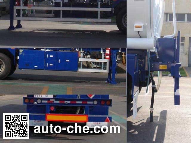 CIMC Tonghua THT9403GYYH aluminium oil tank trailer