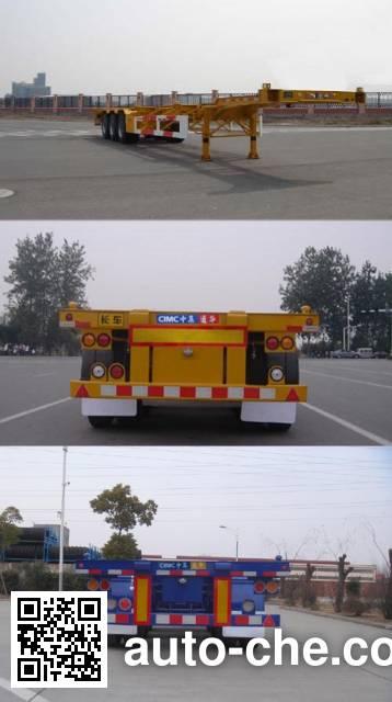 通华牌THT9405TJZA集装箱运输半挂车