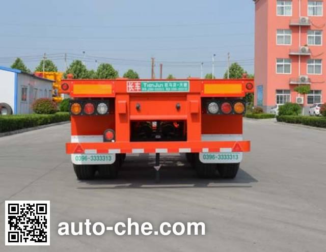 Tianjun Dejin TJV9400TJZF container transport trailer