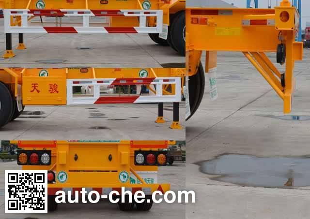 Tianjun Dejin TJV9400TJZG container transport trailer