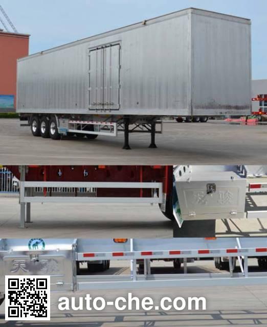 Tianjun Dejin TJV9408XXYG box body van trailer