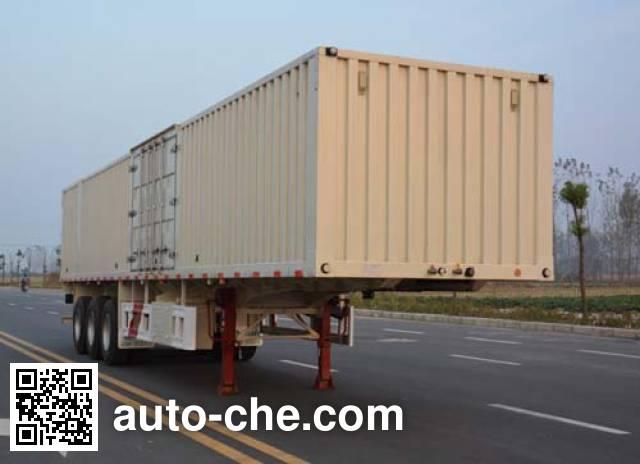 Tianjun Dejin TJV9401XXYF box body van trailer