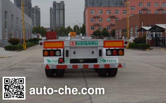 天骏德锦牌TJV9403TJZG集装箱运输半挂车